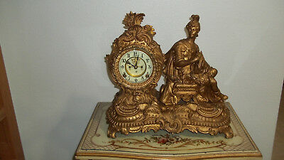 Fully & Properly Restored Ansonia Figure Clock With Visual Escapement