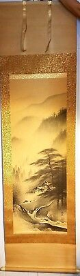 Asian Original painting scroll (mountain landscape)