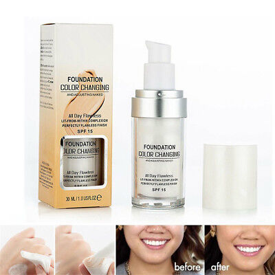 Magic Flawless Color Changing Foundation TLM Makeup Change To Your Skin Tone  E1