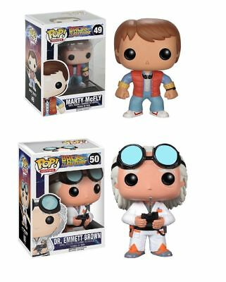 FUNKO POP! MOVIES: BACK TO THE FUTURE DR. EMMETT BROWN MARTY MCFLY set of 2