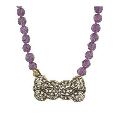 """QVC La Vintage Simply Stated Purple Beaded 24"""" Necklace $128"""