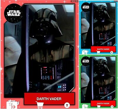 2019 DARTH VADER EXCLUSIVE FRENZY BASE RED/GREEN/BLUE Topps Star Wars Digital