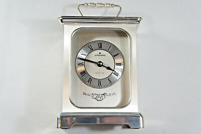 Junghans Quartz Clock W738 Metal Case Silver Color - Made In Germany