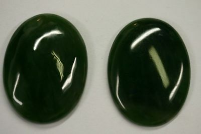 30x40 40x30mm Natural British Columbia BC Nephrite Jade Cabochon Hard to Find