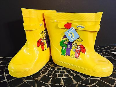 1999 RARE Teletubbies Yellow Rainboots for Child/Youth Unisex Size 11/12 Blemish