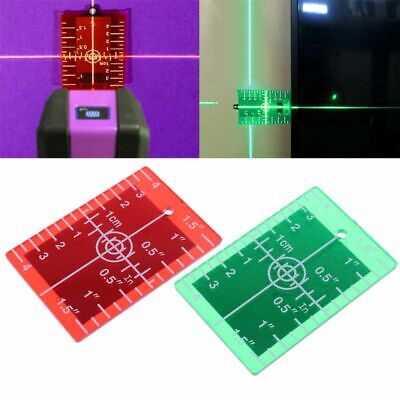 Laser Target Card Plate inch/cm for Green and Red Laser Level Target Plate