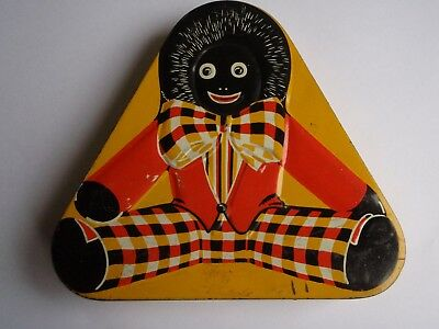 Collectable gollywog triangle tin in good condition
