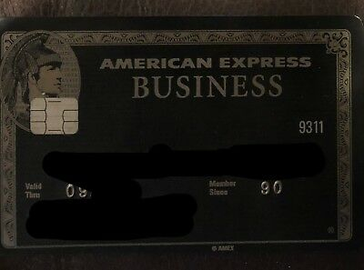 Authentic American Express Amex Centurion Black Card (expired)