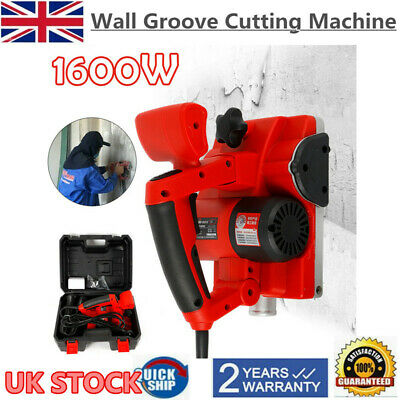 220V Handheld Electric Brick Wall Chaser Floor Wall Groove Cutting Machine 1600W