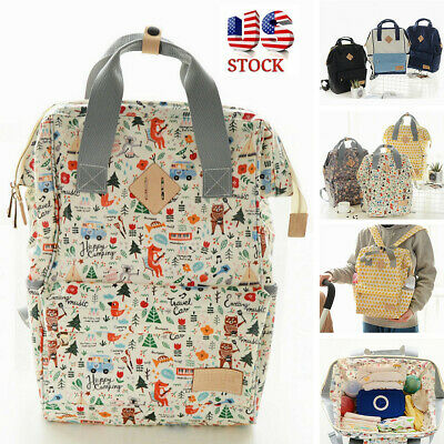 US Mummy Maternity Nappy Diaper Bag Baby Shoulder Travel Backpack Handbag Large