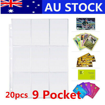 180 Pockets Wallets Album Pages Collection Trading Gaming Card Sleeves Storage