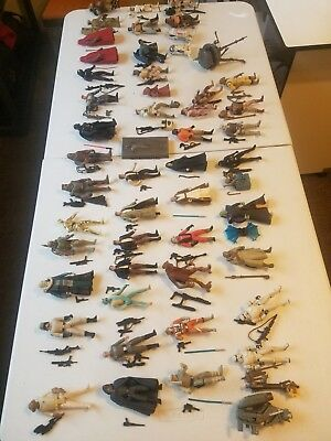 Star Wars 49 Action Figures Lot Vintage with Authentic Weapons