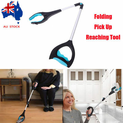 Foldable Pick Up Reaching Long Arm Gripper Grabber Picker Helping Hand Tool AU