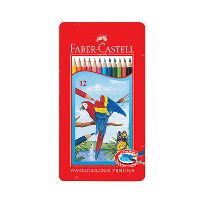 Faber-Castell 115913 Watercolor Pencils Tin box of 12 Sketch Set NEW