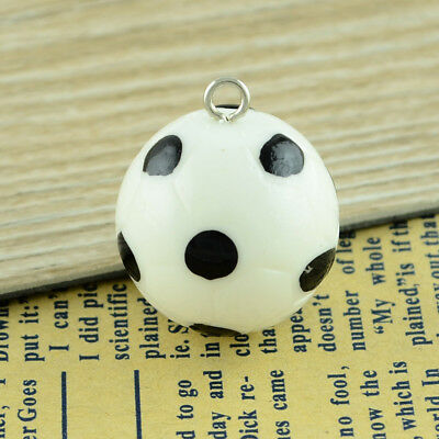 10 Gorgeous Football Charms/Pendants 25mm in size - perfect for keyring pendants