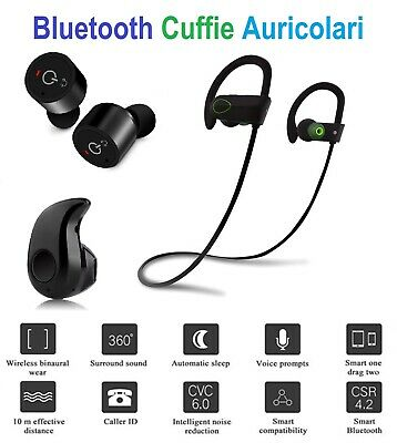 Auricolari Cuffie Wireless Sports Bluetooth 4.2 Stereo iPhone Samsung Huawei LG