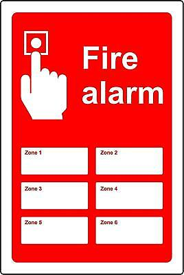 Fire alarm signs zone1