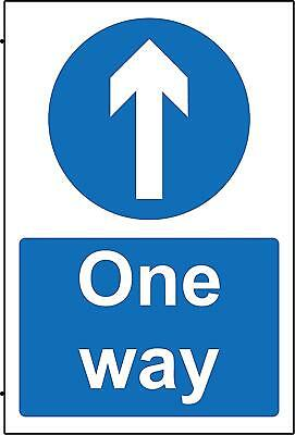 Mandatory signs One way Safety sign
