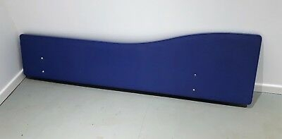 Office Desk Partition Back Screen Divider + supports, Blue W 1780 cm H 480 - 350
