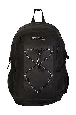 Mountain Warehouse Peregrine Backpack in Black w/Plenty of Straps-30 l /One Size