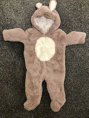 NEXT baby flufffy bunny pramsuit 9-12 Months. Excellent Condition, Rarely Used