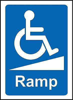 Wheelchair Ramp Notice Sign Disabled sign
