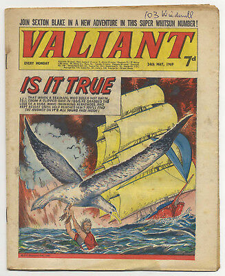 Valiant 24th May 1969 (high grade copy) Steel Claw, Mytek, Kelly's Eye