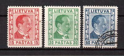 LITHUANIA, 1936, MI 410-412, MNH, used