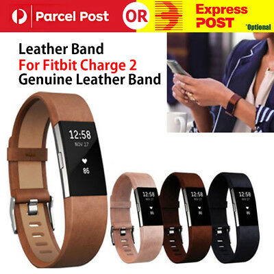 Replacement Genuine Leather Wrist Watch Band Strap For Fitbit Charge 2 Wristband
