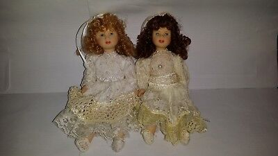 2 Small Collectable Ceramic Dolls