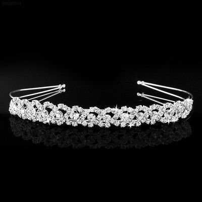 EB92 Elegant Crystal Rhinestone Wedding Party Bridal Tiara Headband Glitter