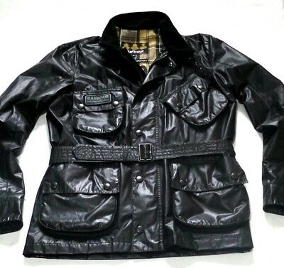 """New £225 Barbour International """" Carbon  """" Jacket - Small - Steve Mcqueen Style"""