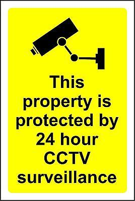 This property is protected by 24 hour CCTV surveillance safety sign