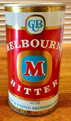 Melbourne Bitter. 740ml Straight Steel Beer Can.