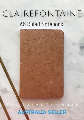 Clairefontaine Pocket Ruled Notebook Tobacco (note book pad lined grid dot draw)