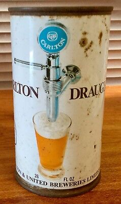 Carlton Draught 26FL.OZ. Flat Top. Steel Beer Can.