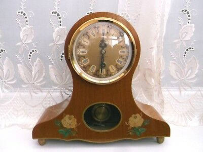 "Vintage Large  East German Gdr Wooden Mantle Clock ""not Working"""