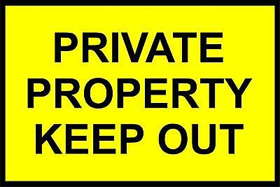 Private property keep out safety sign