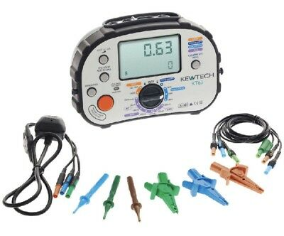 New Boxed - Kewtech Kt63 Multifunction Tester Inc Test Leads & 12 Months Cal **