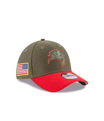 4a52961ff good tampa bay buccaneers new era 39thirty nfl salute to service flex cap  hat med 55146