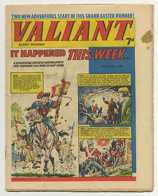 Valiant 9th April 1966 (mid-high grade copy) Steel Claw, Kelly's Eye, Mytek