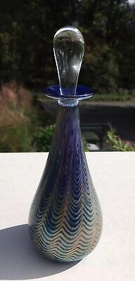 Vintage Art Glass Perfume Bottle Signed Dated
