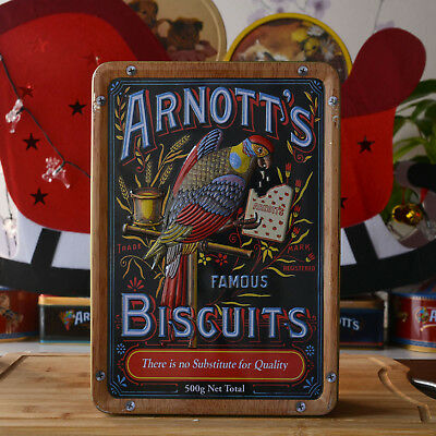 Arnotts - SPECIAL EDITION Brightly Coloured Parrot ( Embossed ) 2011 Biscuit Tin