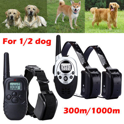 Anti-Bark Electric Shock E-Collar Training Remote Control Rechargeable Dog UK C2