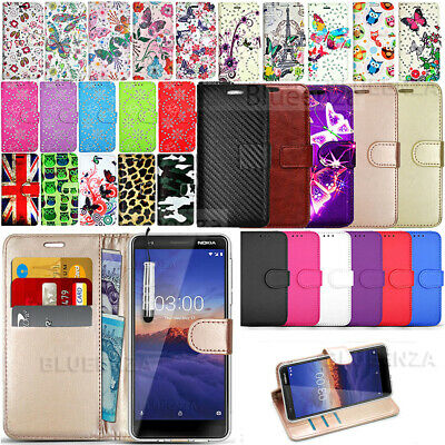For Nokia 3.1 - New Premium Wallet Leather Case Book Phone Cover +Protector Film
