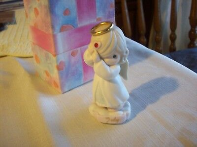 Precious Moments    Angel  Figurine   (July)   4 inches