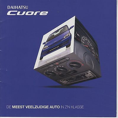 DAIHATSU - Cuore brochure/prospekt/folder Dutch 2005