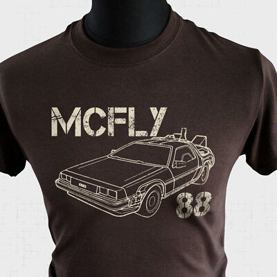 Back To The Future 2 Cafe 80s T Shirt Comedy Film W042 Marty McFly Time Machine