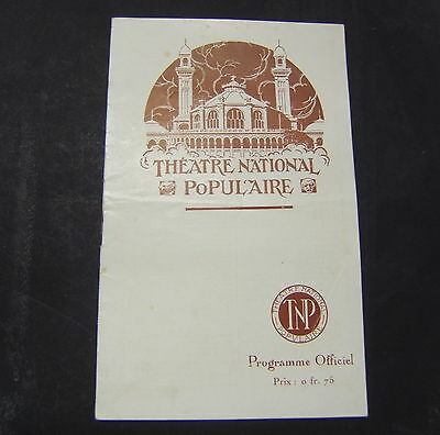 Programme THEATRE NATIONAL POPULAIRE 1922-1923