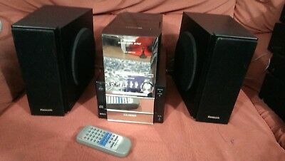 Panasonic SA-PM17 CD Stereo System with 5 CD changer in silver
